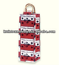 high quality eco friendly jute wine bag