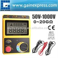 0~20G Ohm 50~1000V /Digital Insulation Meter Volt Resistance Tester