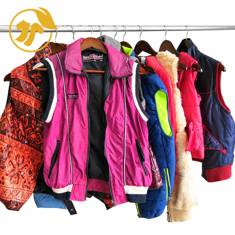 Top Newest Quality Used Nylon Vest Adult Secondhand Clothes