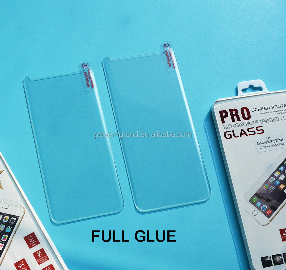Case Friendly 9H FULL Clear FULL GLUE 3D Curved Tempered glass screen protector for Samsung Galaxy S8 S8 Plus