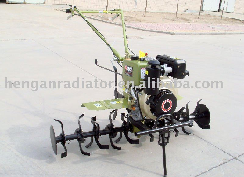 electric start diesel engine 186F power tiller