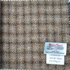 Plaid Harris tweed fabric for bag and jacket
