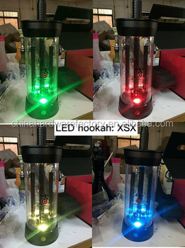 XSX Inhale LED shisha glass PC acrylic cup hookah
