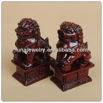 Red color Chinese Foo Dogs for home decor