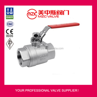 2PC Stainless Steel Ball Valves Screw Ends 1000WOG Gas Ball Valves