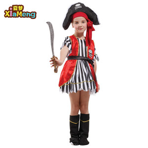 kids role play set children halloween pirate costumes for girls
