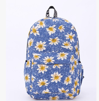 Low price best selling trendy canvas school bags latest for teens