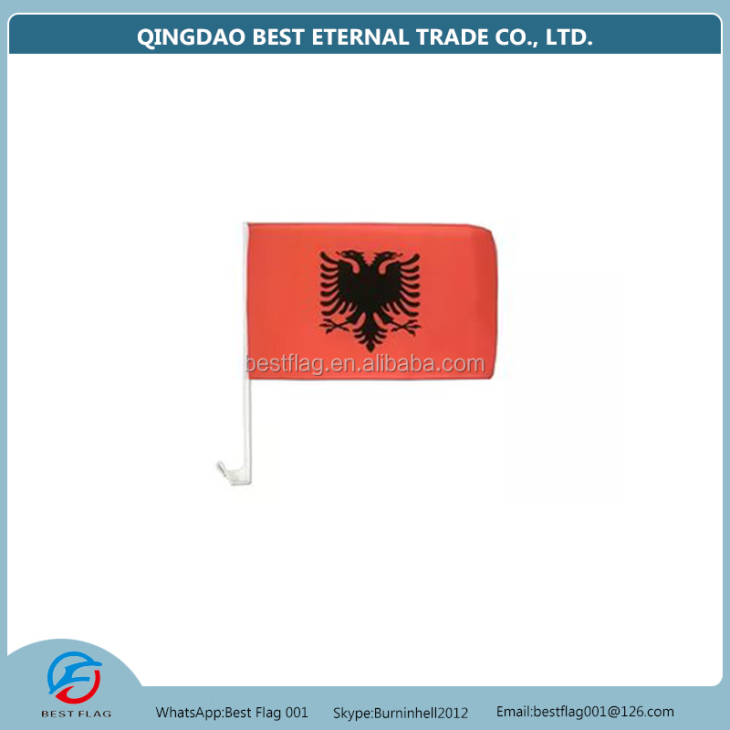 Wholesale advertising albania car flag