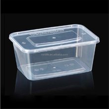 750ML BPA Free Rectangular Plastic Food Storage Containers With Lids Storage Container For Food