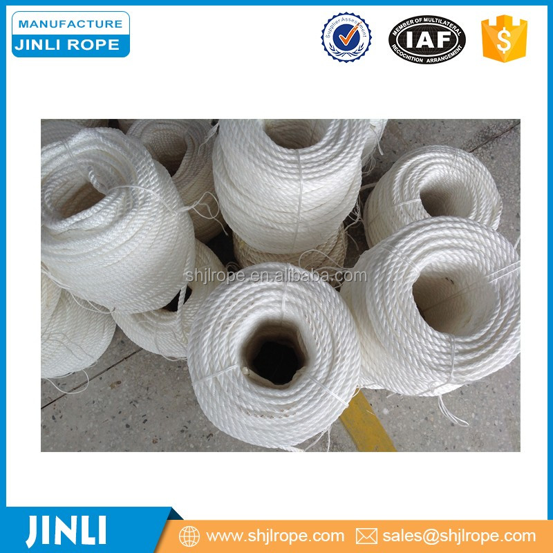 16mm*180m three strands twisted polyester rope for yacht