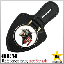 New Arrival promotion cheap car custom leather key fob