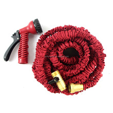 Car Wash Equipment with prices expandable hose 3 layers natural latex 25FT/50FT75/100FTgarden hose with brass fitting &spray gun