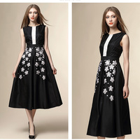 hot sale fashion sleeveless A line women dress wholesale new design midi chiffon summer casual sexy lady party dresses garment