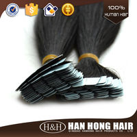 2015 Newest Hand Tied Skin Weft,Pu Skin Tape Human Hair Extension/hand Tied 100% Brazilia Remy Skin/pu Skin Weft Hair Extension