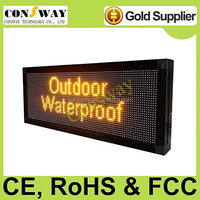 Free shipping CE approved outdoor led signs screen with yellow color and multi-language