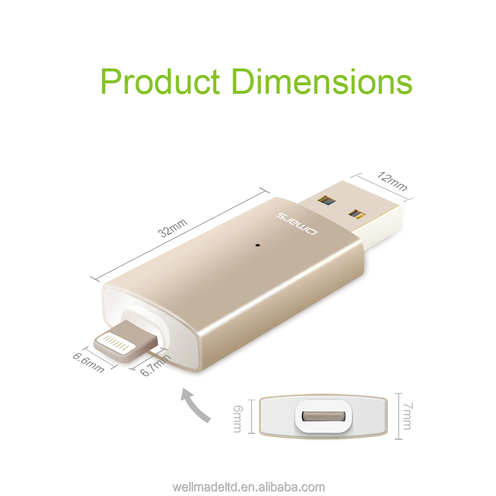 Omars 64Gb i-easy Drive OTG USB for iPhone iPad mini (MFi certified)