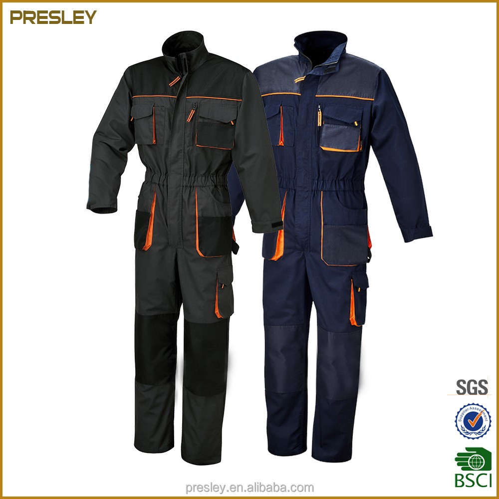 Long-sleeved multi-pocket factory wholesale auto repair workers overall uniforms mens workwear uniform