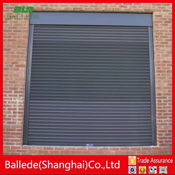 aluminum security shutter with adjustable blade