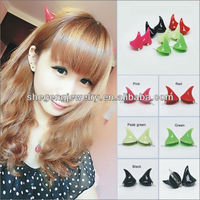 Lovely hairpin Devil Horns on hair clip Fluorescent Cute hairclips