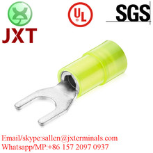 copper tin-plating double crimp terminals auto electric male female connectors insulated spade terminals connectors plug