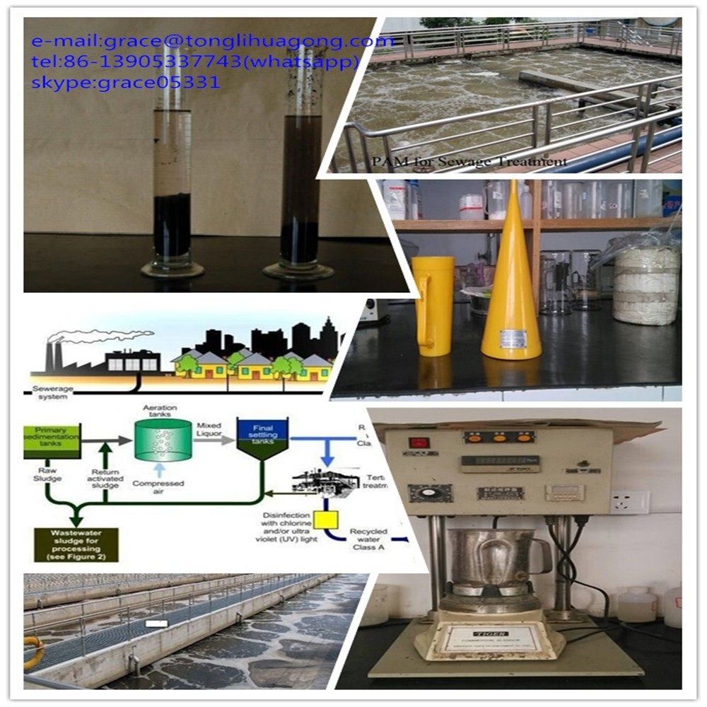 supply Anionic polyacrylamide/ high molecular weight/high purity in organic sludge dewatering industrial wastewater treatment