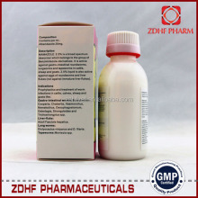 Poultry medicine broiler/chicken anticoccidial 2.5% diclazuril oral solution