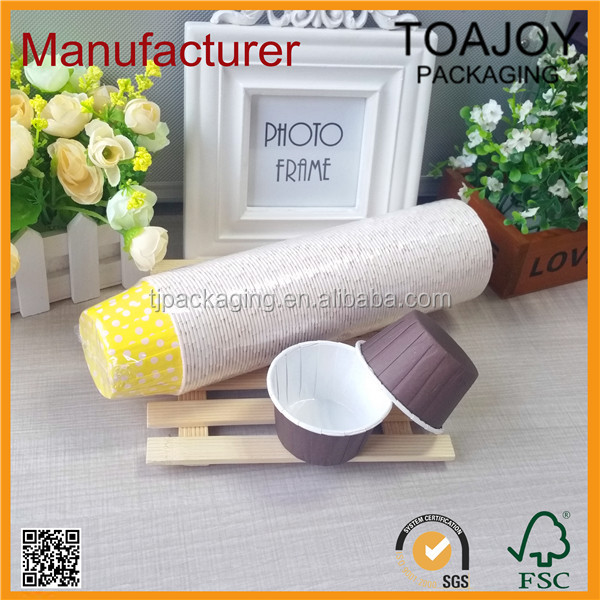 shrink film packed 100 pcs per roll coated paper bakery case, bake cups