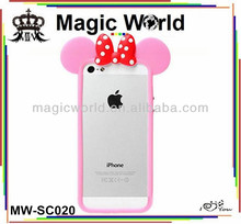cute animal shaped 3d silicone case ,phone case for iphone 4