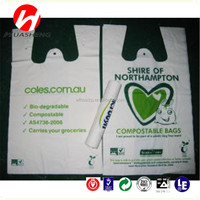 OXO- biodegradable Vest Handle Sealing shopping use T shirt plastic bags