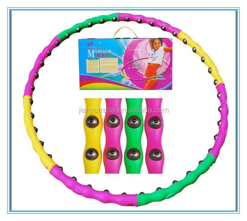 Latest Design Plastic PVC Hula Hoops, Colorful Lose Weight Hula Hoop
