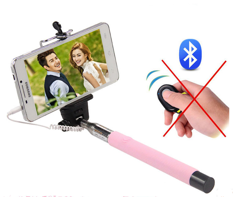 colorful super mini selfie stick with bluetooth shutter button