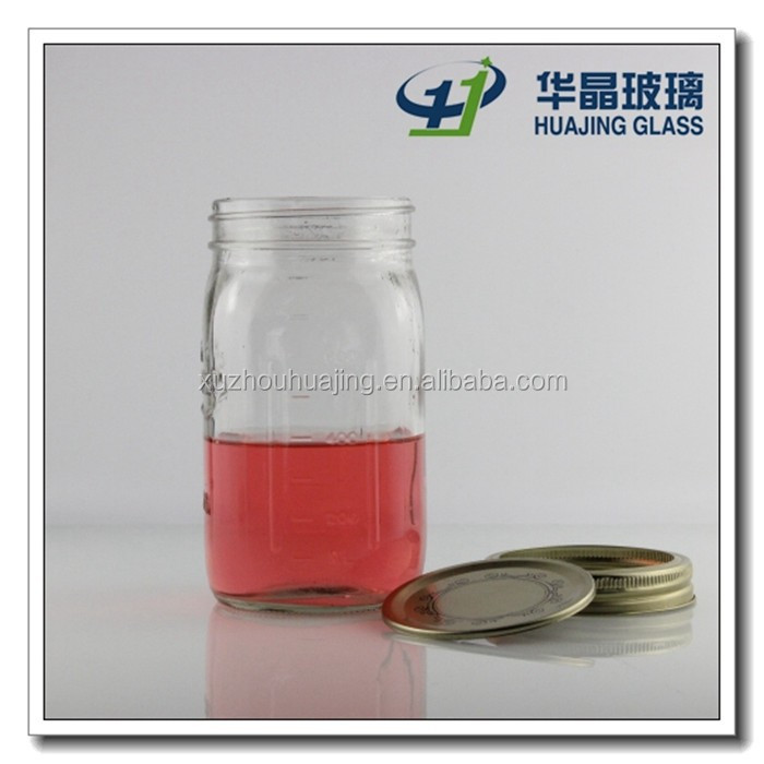 good quality and competitve price fancy 900ml candy glass jars with metal lid