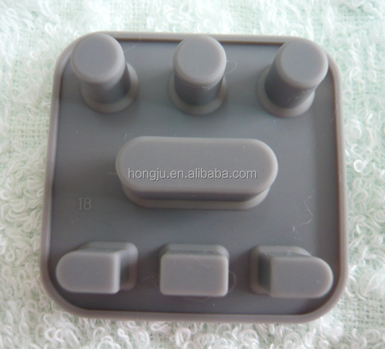 Silicone rubber keypad for tv remote control