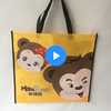 Handled Style and Non woven fabric,Non-woven Material folded up non woven shopping bag