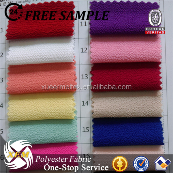 Fashion Polyester Bubble Crepe Georgette Fabric with good handfeel