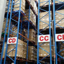Warehouse rack use portable pallet shelves with wire mesh decking