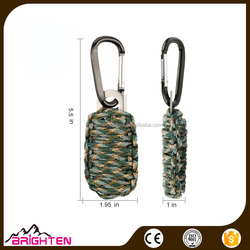 Paracord Grenade Style Survival Emergency Kit with Carabiner