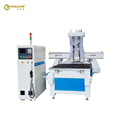 CNC router machine with boring head multi-drill cutter for wood board