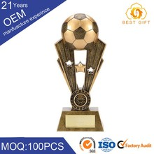 Top Grade custom world cup soccer sports gold metal award trophy