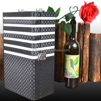 Item HSP26 wine case,wine box,leather wine carrier