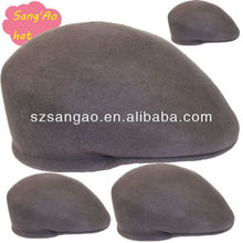 gray beret felt newsboy hat