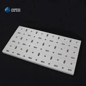 Multiple hole designs perforated acoustic gypsum ceiling boards tile