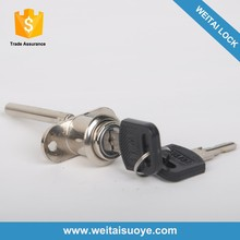 Zinc alloy pedestal lock drawer lock for steel cabinet