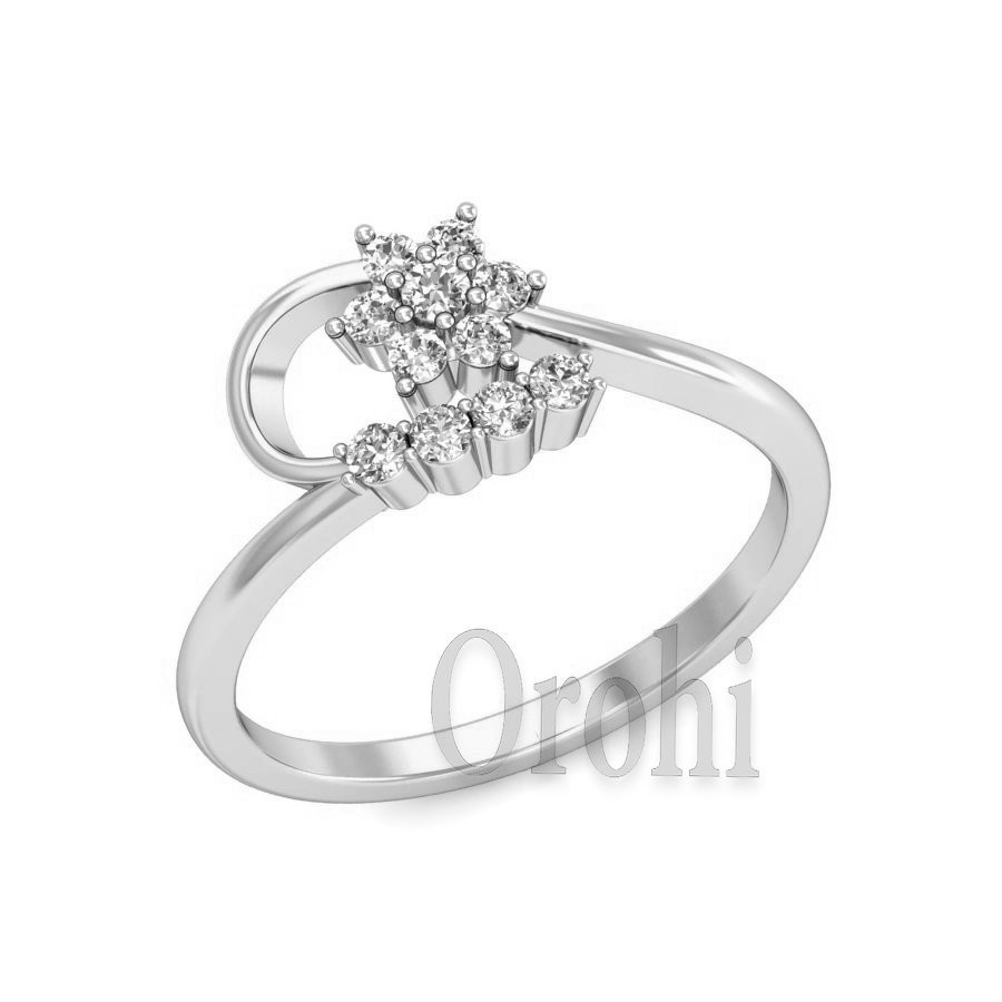 Hot Sale White Gold Plated Pure 925 Silver Ring Design Jewellery Made with Diamond Ring for Couple