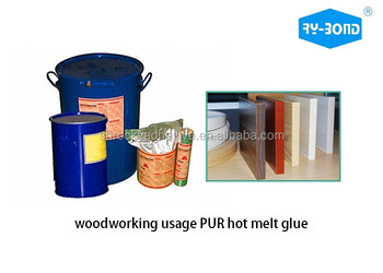 ROHS Approved PUR Hot Melt Adhesive for laminating PVC film on MDF board