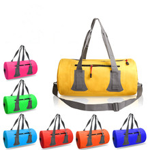 Carry handle shoulder strap zipper pocket Welded seams 40L 60L 500D Roll DuffelSak Waterproof duffel dry bag
