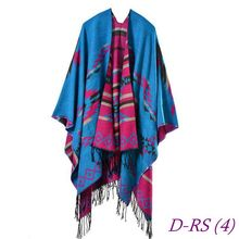 Exquisite digital print modal poncho shawl scarf wholesale