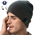 Wireless beanie hat built in MIC hands-free Talking for Outdoor Sports Skiing Running Skating Walking-Black