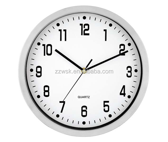2016 hot sale metal frame simple wall clock with JP quartz movement