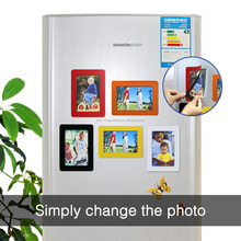 Magnetic Picture Collage Frame for Refrigerator pvc photo holder for sale